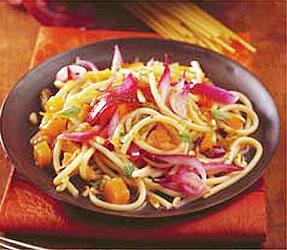 Hagymás-sütőtökös spagetti