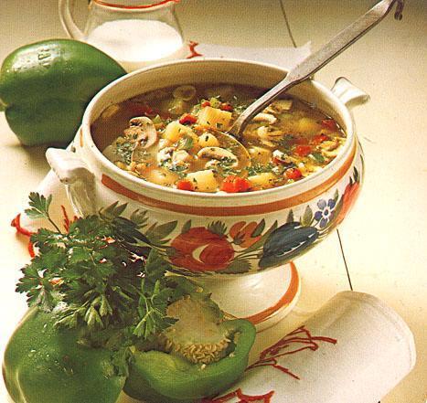 Zeleninová polévka s mletým masem