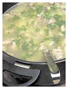 0016 - Rybí polévka s houbami