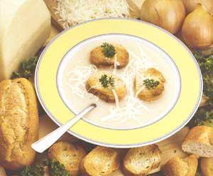 0108 - Sýrová cibulová polévka