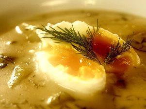Šumavská kulajda se zastřenými vejci
