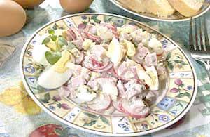 Zeleninový salát s majolkou