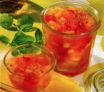 Broskvovo-malinový džem
