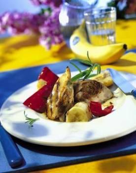 Kuřecí prsa plněná banány