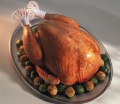 Kuře s vločkovou nádivkou a smaženými kuličkami