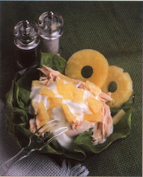 Nakládaná slepice s ananasem