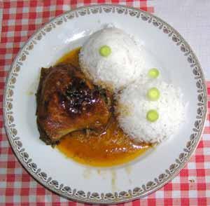 Kuře pečené s pikantní omáčkou