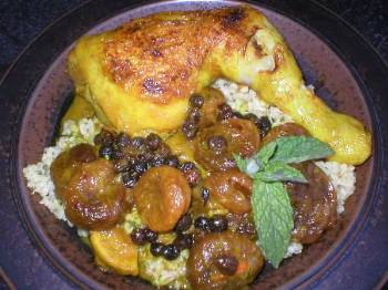 Arabské kuře s meruňkami