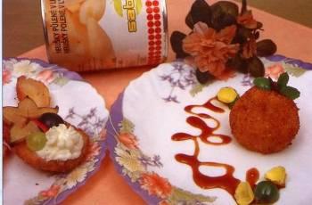 Smažená hruška s karamelovou omáčkou