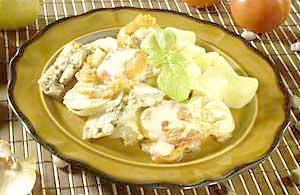 0588 - Pečená ryba na bylinkách s rajčaty, brambory