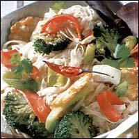 Asijské nudle se zeleninou a s tofu