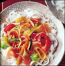 Zelenina ve woku podle Kena Homa