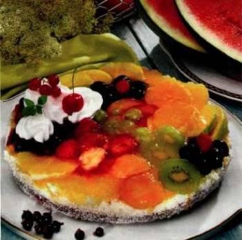 Lehký ovocný dort s pudinkem